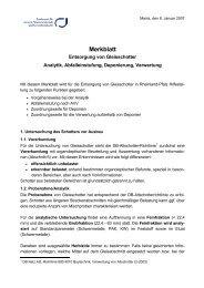 Merkblatt Entsorgung Gleisschotter - in Rheinland-Pfalz