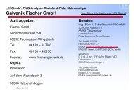 Galvanik Fischer GmbH - SAM