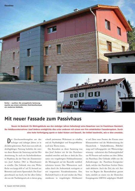 Mit Neuer Fassade Zum Passivhaus Anton Ambros Gmbh