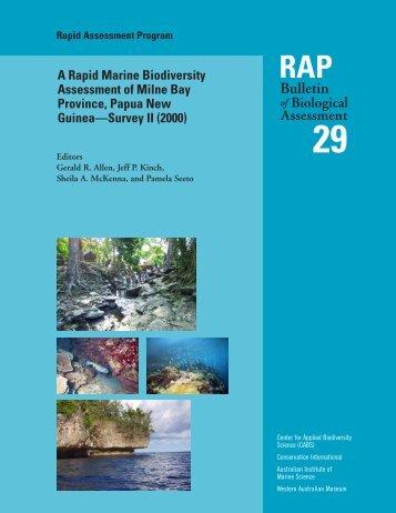 RAP 29 Milne Bay_FEB 13_03 - Conservation International