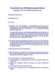 Checkliste zum Notifizierungsverfahren - SAM