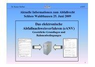 Das elektronische Abfallnachweisverfahren (eANV) - SAM