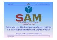 (eANV): die qualifizierte elektronische Signatur - SAM