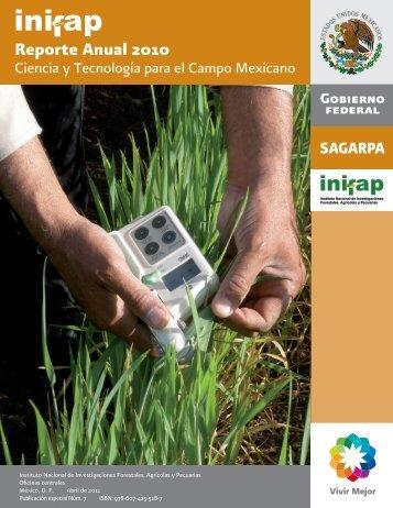 Reporte Anual 2010 - Instituto Nacional de Investigaciones ...