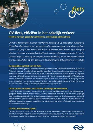 Ov-fiets, efficiënt in het zakelijk verkeer
