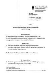 Richtlinie über die Vergabe des Forschungspreises der SHS-Stiftung