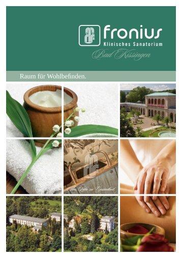 Fronius Klassiker / Therapien - Klinisches Sanatorium Fronius