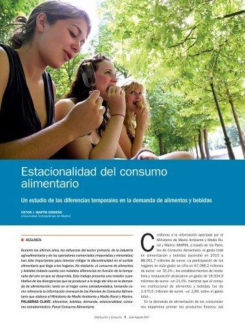 Estacionalidad del consumo alimentario - Mercasa