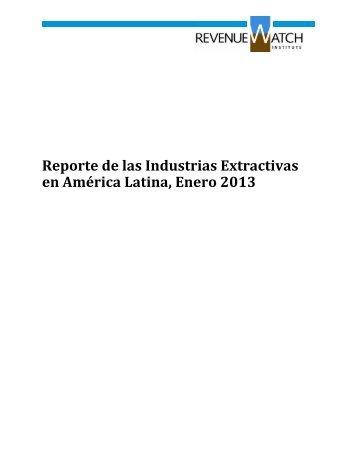 01 reporte enero 2013.pdf - Red Latinoamericana Sobre las ...