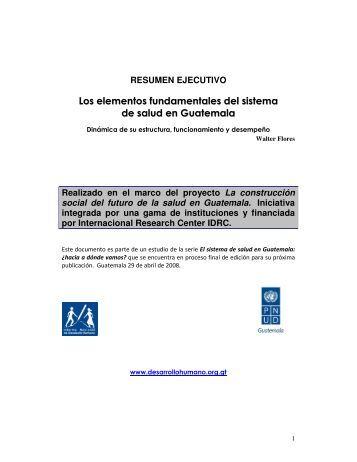 Los elementos fundamentales del sistema de salud en Guatemala