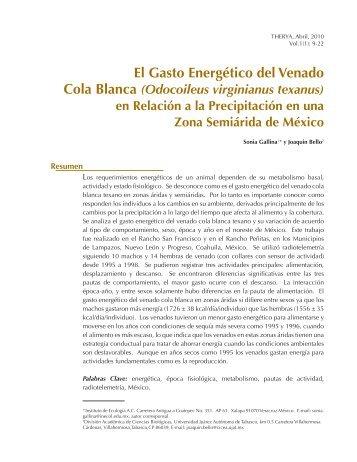El Gasto Energético del Venado - AMMAC: Acerca de la Asociación ...