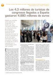 Los 4,3 millones de turistas de congresos llegados a ... - Hosteltur.com