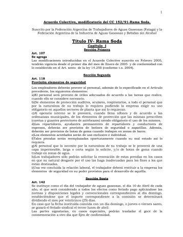 Convenio 152/91 - fataga