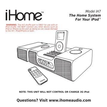 Ihome ih9 user Manual