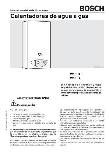 Lista de precios 2012 calentadores de paso a gas bosch - Calentadores a gas ...