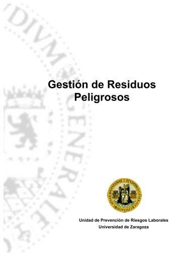 Procedimiento para la Gestión de Residuos Peligrosos - Unidad de ...
