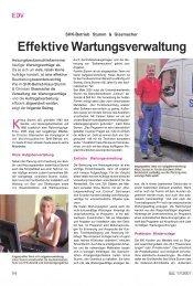 Effektive Wartungsverwaltung - Sander und Doll AG