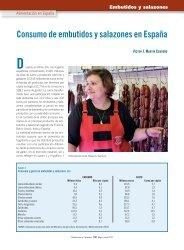 Consumo de embutidos y salazones en España - Mercasa
