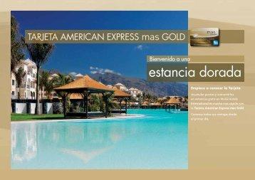 TARJETA AMERICAN EXPRESS mas GOLD