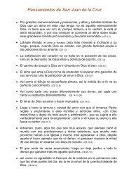 Pensamientos de San Juan de la Cruz - Federación Virgen del ...