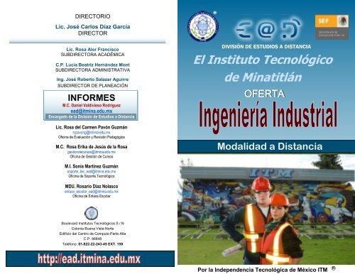 Diptico Estudios Distancia Instituto Tecnológico De
