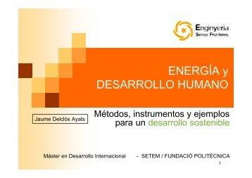 ENERGÍA y DESARROLLO HUMANO