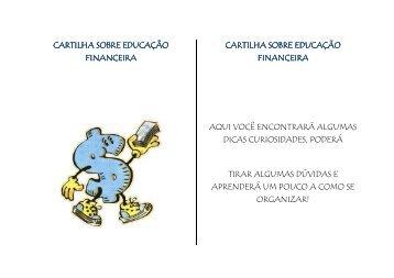 Cartilha sobre Educação Financeira - Faculdades Padre Anchieta