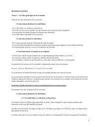 MICROECONOMÍA Tema 1 − Los Diez principios de la economía ...
