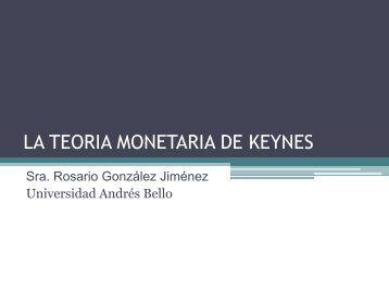 LA TEORIA MONETARIA DE KEYNES - Aprendiendo Sobre Economía