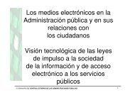Los medios electrónicos en la Administración pública y de sus ...