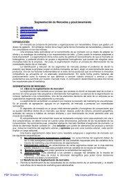 Segmentación de Mercados y posicionamiento PDF Creator ...