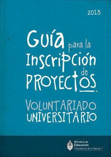 Guía para la inscripción de proyectos - Minisitios del Ministerio de ...