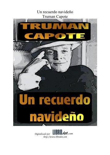 Un recuerdo navideño Truman Capote