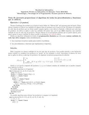 Soluciones del examen parcial de Sistemas de febrero de 2011