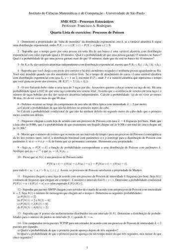 Lista 4 - ICMC