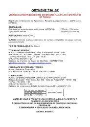 ORTHENE 750 BR - Secretaria da Agricultura e Abastecimento