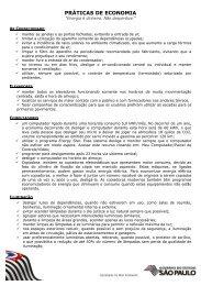 Manual – Práticas de economia - Secretaria do Meio Ambiente