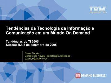 Tendências da Tecnologia da Informação e ... - sucesu-rj