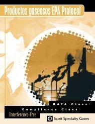 Productos gaseosos EPA Protocol - Scott Specialty Gases