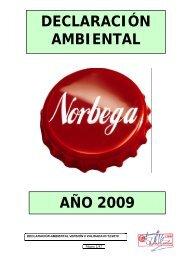 DECLARACIÓN AMBIENTAL AÑO 2009 - Coca-Cola