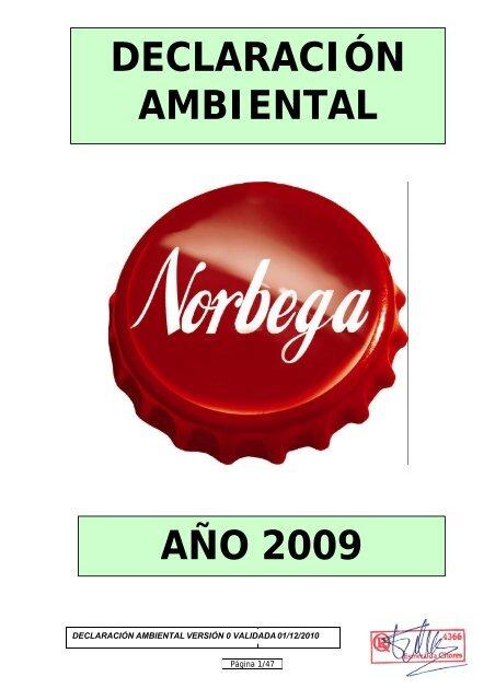 Declaración Ambiental Año 2009 Coca Cola