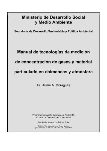 Manual de tecnologias de medicion de concentracion de gases y