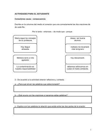 15. Ficha leng. Conectores aditivos, causales ... - Educarchile