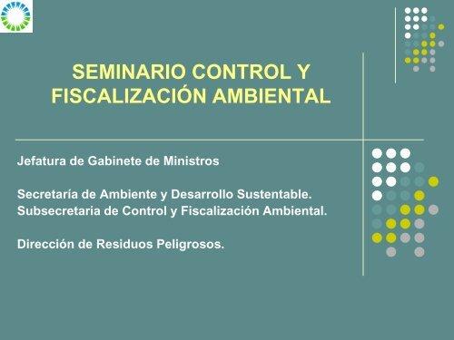 Inspecciones Ambientales - Secretaria de Ambiente y Desarrollo ...