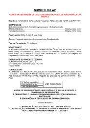 SUMILEX 500 WP - Secretaria da Agricultura e Abastecimento