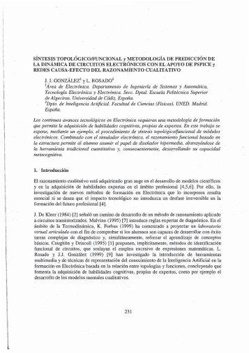 LA DINÁMICA DE CIRCUITOS ELECTRONICOS ... - e-Spacio - UNED