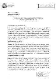 Recurso nº 247/2011 Resolución nº 279/2011 RESOLUCIÓN DEL ...