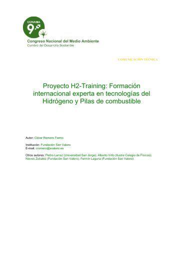 Proyecto H2-Training: Formación internacional experta en ...