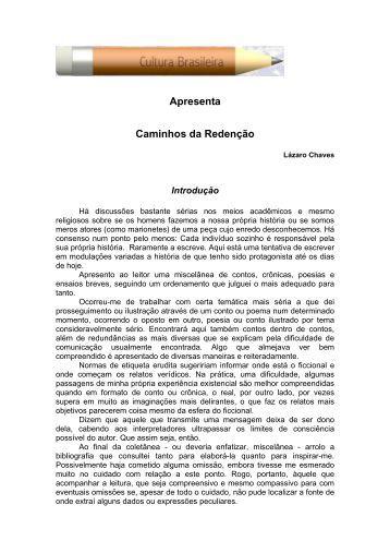 Caminhos da Redenção - Cultura Brasileira