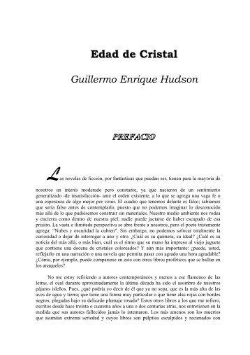 Edad de Cristal Guillermo Enrique Hudson Las - AMPA Severí Torres